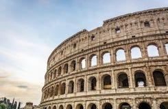 罗马斗兽场圆形露天剧场的细节在罗马 库存图片