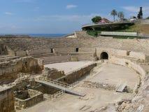 罗马斗兽场在塔拉贡纳 免版税图库摄影