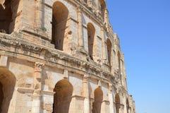 罗马斗兽场在突尼斯 免版税库存照片