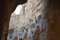 罗马斗兽场在突尼斯 免版税库存图片