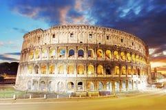 罗马斗兽场在罗马,意大利 免版税图库摄影