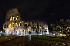 罗马斗兽场夜视图,罗马 库存图片