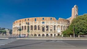 罗马斗兽场或大剧场timelapse hyperlapse,亦称Flavian圆形露天剧场在罗马,意大利 影视素材