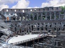 罗马斗兽场是市的偶象标志罗马意大利 免版税库存照片