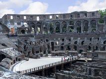 罗马斗兽场是市的偶象标志罗马意大利 库存图片