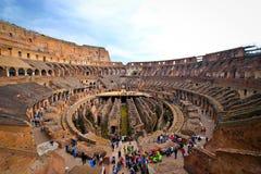 罗马斗兽场的内部 免版税库存照片