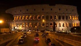 罗马斗兽场的大厦在罗马在晚上 影视素材