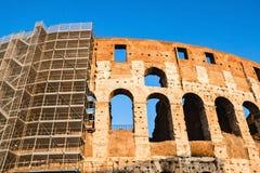 罗马斗兽场的恢复在罗马 库存图片