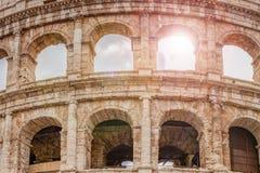 罗马斗兽场的细节在罗马 库存照片
