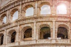 罗马斗兽场的细节在罗马 免版税库存图片