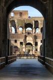 罗马斗兽场看法在罗马,日间意大利 免版税库存照片