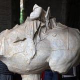 罗马斗兽场,大剧场或Coloseo,骑马纪念碑 免版税图库摄影