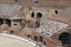 罗马斗兽场,大剧场或Coloseo, Flavian圆形露天剧场最大的被建立的标志罗马帝国的古老罗马市 图库摄影