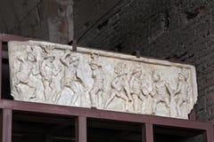 罗马斗兽场,大剧场或Coloseo, Lusius苏合香脂安心  免版税库存照片