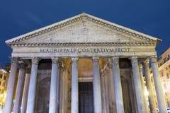 罗马旅游胜地-著名万神殿 免版税库存照片