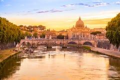 罗马日落 免版税库存图片
