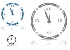 罗马时钟的数字 库存照片