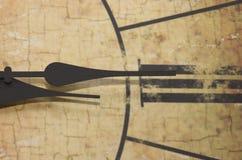 罗马时钟的数字 图库摄影