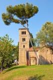 罗马时代的修道院。巴塞罗那。 免版税库存照片
