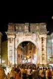 罗马曲拱在普拉的中心 免版税库存照片