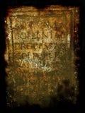 罗马框架的羊皮纸 库存图片