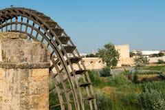 罗马桥梁和卡拉奥拉塔在科多巴 库存照片
