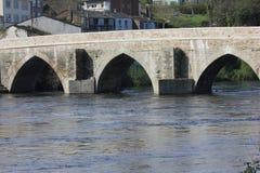 罗马桥梁在卢戈西班牙 免版税图库摄影