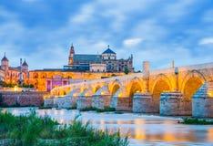 罗马桥梁,安大路西亚,科多巴 免版税库存照片