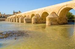 罗马桥梁,科多瓦,安大路西亚,西班牙 库存图片