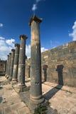罗马浴的bosra 免版税库存图片
