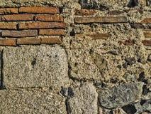 罗马渡槽特写镜头墙壁  免版税库存图片