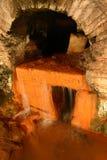 罗马渡槽的浴 免版税库存照片