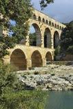 罗马渡槽du法国gard的pont 免版税库存图片