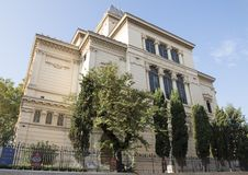 罗马犹太博物馆罗马伟大的犹太教堂的地下室的  免版税库存照片