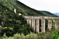罗马的渡槽 图库摄影