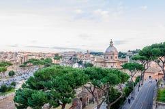 罗马的老历史的部分的看法 免版税图库摄影
