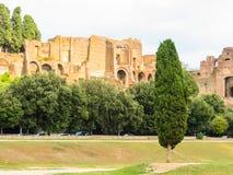 罗马的论坛 罗马帝国的时期废墟  免版税库存图片