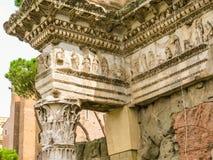 罗马的论坛 罗马帝国的时期废墟  免版税库存照片