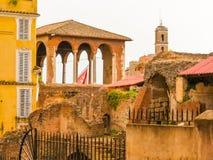 罗马的论坛 罗马帝国的时期废墟  免版税图库摄影