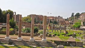 罗马的论坛 罗马广场录影在罗马,意大利 拉丁:论坛Romanum,意大利语:古罗马广场 影视素材