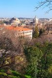 罗马的雄伟看法从Janiculum小山的高度的 图库摄影