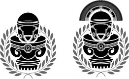 罗马盔甲垫座  图库摄影