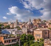 罗马看法从罗马广场的在意大利 图库摄影