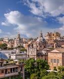 罗马看法从罗马广场的在意大利 免版税库存图片