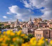 罗马看法从罗马广场的在意大利 免版税库存照片