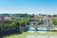罗马看法从Castel Sant'Angelo的 库存图片