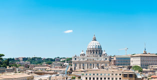 罗马看法从Castel Sant'Angelo的 免版税图库摄影