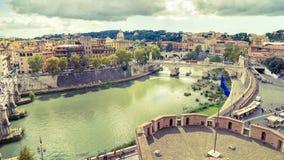罗马空中全景  免版税图库摄影