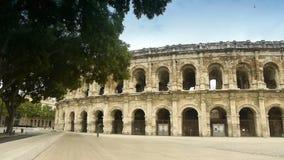 罗马竞技场,尼姆法国 股票视频
