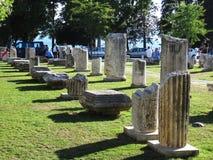 罗马结构的部分 免版税库存照片